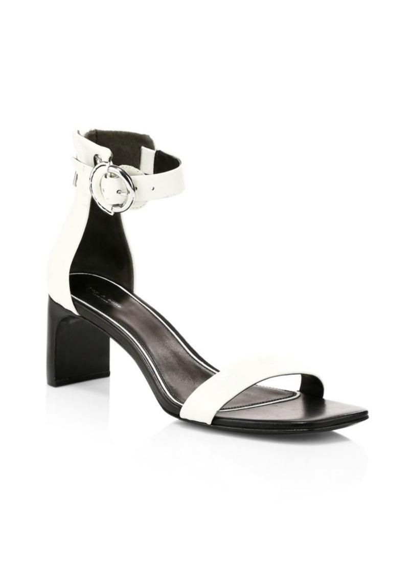 rag & bone Ellis Ankle-Strap Leather Sandals