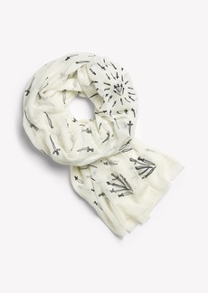 Rag & Bone EMBROIDERED DAGGER SCARF