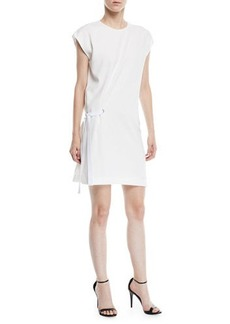 Rag & Bone Etta Side-Tie Crewneck Short Dress