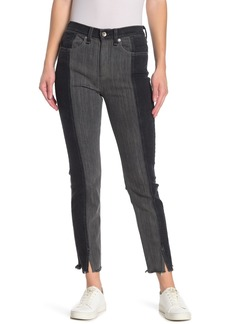 rag & bone Evelyn Patchwork Straight Leg Jeans