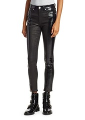 rag & bone Evelyn High-Rise Patent Leather Skinny Jeans