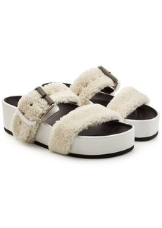 Rag & Bone Evin Leather Sandals with Shearling