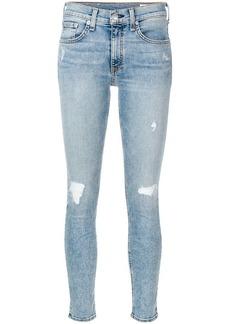 Rag & Bone faded distressed skinny jeans