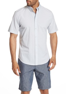 rag & bone Fit 2 Short Sleeve Stripe Print Tomlin Trim Fit Trim Fit Shirt