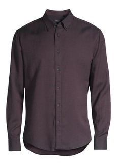 rag & bone Fit 2 Tomlin Cotton-Linen Oxford Sport Shirt