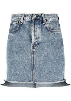 rag & bone fitted denim skirts