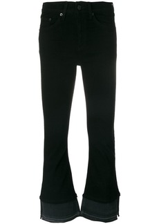 Rag & Bone flared cropped trousers