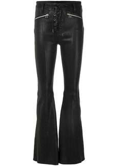 Rag & Bone flared trousers with criss cross lace-up