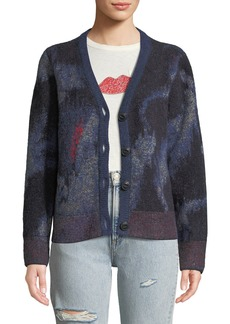 Rag & Bone Fleur Abstract Mohair Cardigan