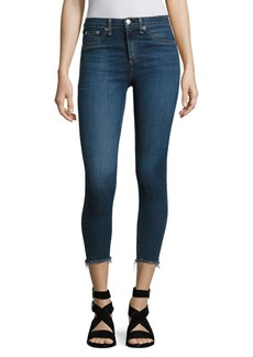 Rag & Bone Frayed Hem Capri Skinny Jeans/Collette