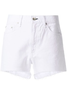 Rag & Bone frayed hem denim shorts