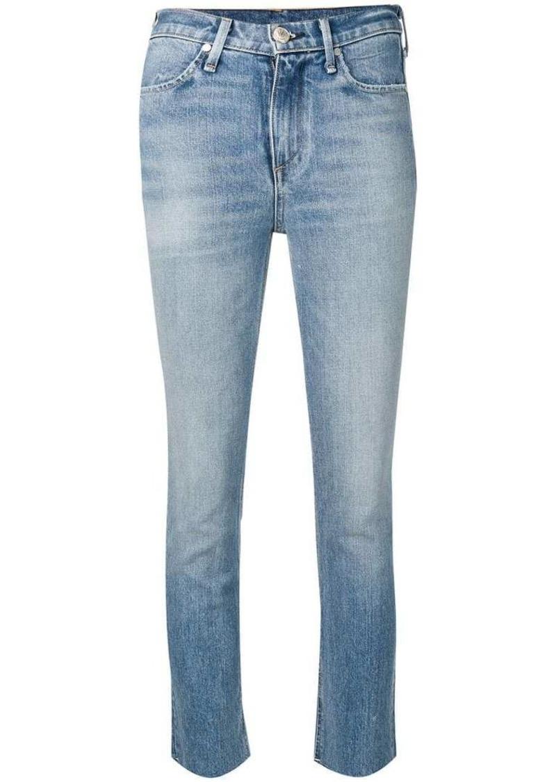 Rag & Bone frayed hem skinny jeans