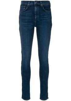 Rag & Bone frayed seam skinny jeans