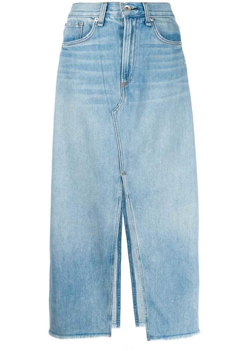 rag & bone front slit skirt