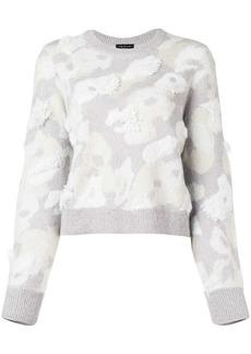 Rag & Bone fur round neck jumper
