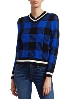 rag & bone Gabby Buffalo Check V-Neck Sweater