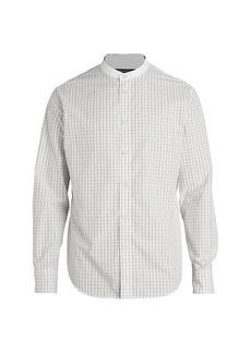 rag & bone Grandad Banded Collar Plaid Shirt
