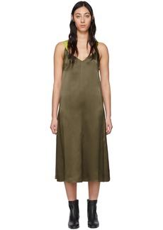 rag & bone Grey Silk Colette Slip Dress