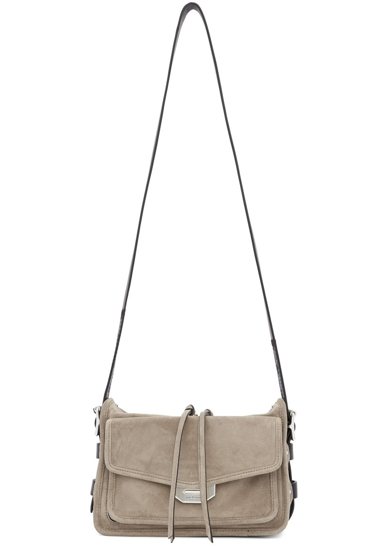 rag & bone Grey Suede Small Field Messenger Bag