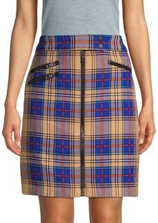 Rag & Bone Griffin Zipper Tartan Skirt
