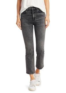Rag & Bone Hana Slim-Fit High-Rose Crop Bootcut Jeans