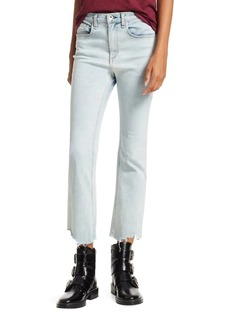 rag & bone Hana Chewed Cropped Wide-Leg Jeans