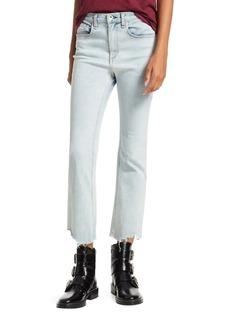 rag & bone Hana Chewed Cropped Wide-Leg Jeans