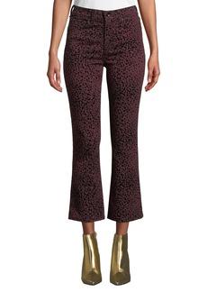 rag & bone Hana High-Rise Cropped Cheetah-Print Jeans