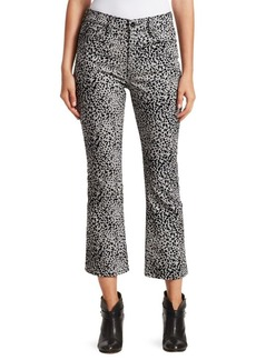 Rag & Bone Hana Velvet Cheetah-Print Cropped Jeans