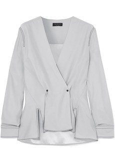 Rag & Bone Hannah Silk-crepe Wrap-effect Blouse