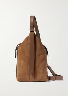 rag & bone Hayden Sling Leather-trimmed Suede Shoulder Bag