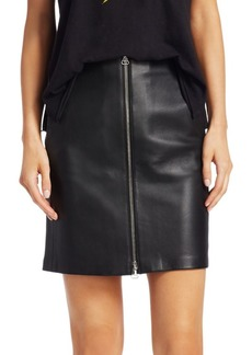 Rag & Bone Heidi High-Waist Leather Skirt