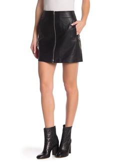 rag & bone Heidi Lambskin Leather Zip Mini Skirt