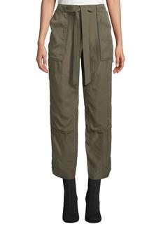 Rag & Bone Henri Belted Silk Cargo Pants