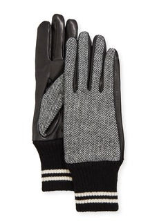 rag & bone Herringbone Lamb Leather Gloves