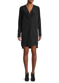 rag & bone High-Low Silk Mini Shift Dress