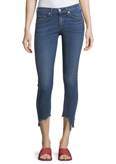 rag & bone High-Rise 10 Capri Jeans w/ Destroyed Hem