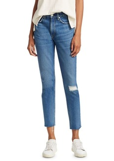 Rag & Bone High Rise Ankle Jeans