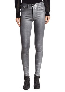 Rag & Bone High-Rise Ankle Coated Skinny Jeans