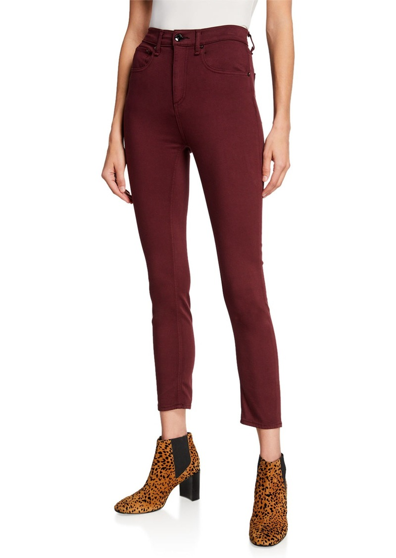 Rag & Bone High-Rise Ankle Skinny Stretch Jeans