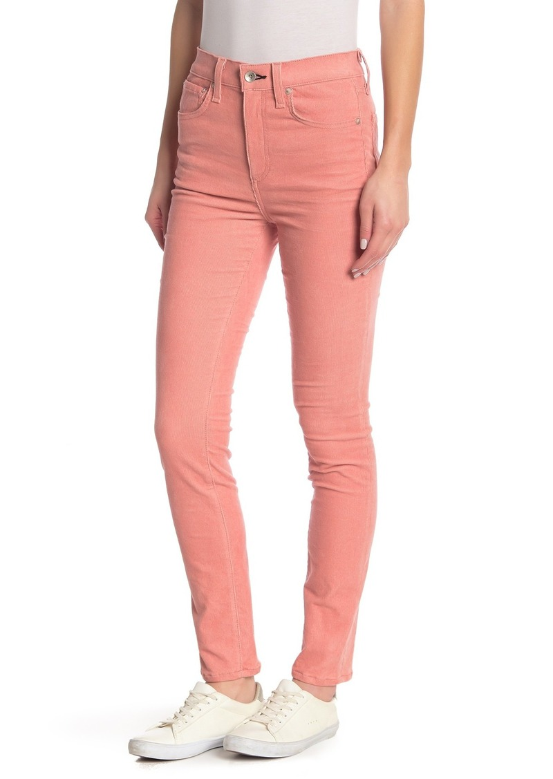 rag & bone High Rise Corduroy Skinny Pants