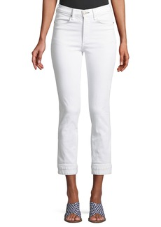 Rag & Bone High-Rise Cuffed Cigarette Jeans