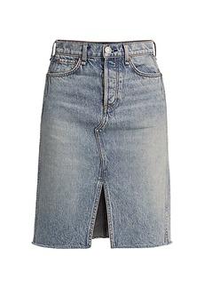 rag & bone High-Rise Denim Midi Skirt