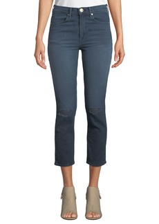 Rag & Bone High-Rise Distressed Cropped Skinny Jeans