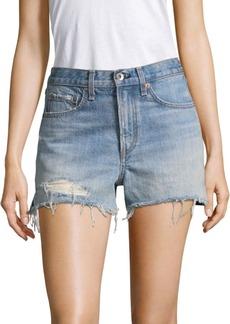 Rag & Bone High-Rise Distressed Shorts