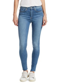 Rag & Bone High-Rise Ankle Skinny Jeans