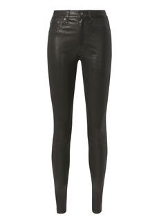 Rag & Bone High-Rise Skinny Black Leather Pants