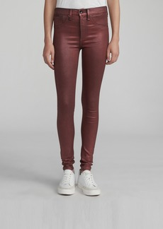 Rag & Bone HIGH RISE SKINNY COATED JEAN