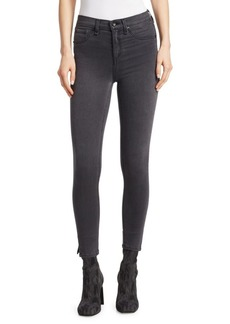 Rag & Bone High-Rise Side Slit Crop Skinny Jeans