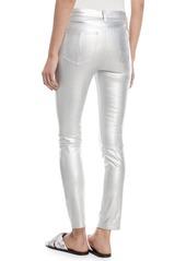 Rag & Bone High-Rise Skinny Metallic Leather Pants